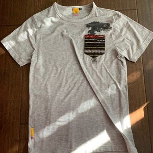 Gray patterned Pocket shirt for charity!